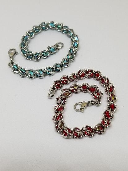 Micro Captured Crystal Bracelet
