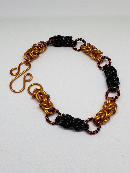 Interrupted Byzantine Bracelet