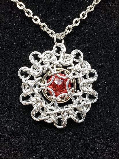 Crystal Dahlia Pendant