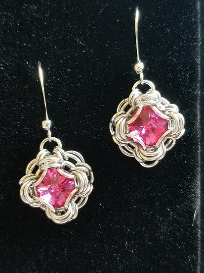 Celtic Labyrinth Crystal Earrings