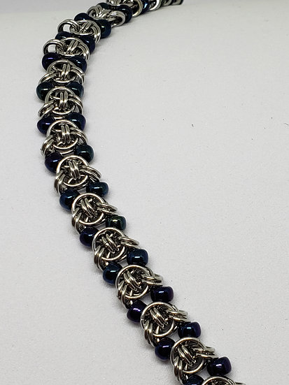 Fancy Beaded Chain Bracelet