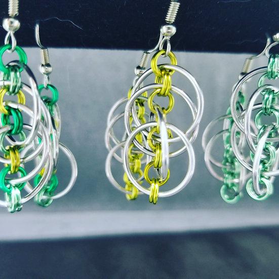 Cascade of Hoops Earrings