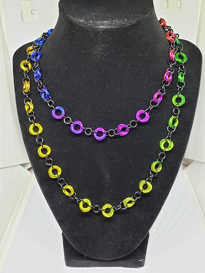 Ombre Color Wheel Necklace
