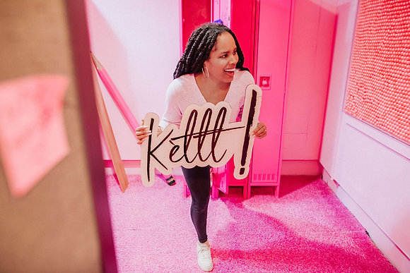 Kètttt! - Double Layers Wood and Acrylic sign for Home decor
