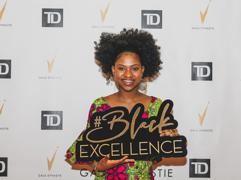 Black Excellence - Gala Dynastie - Logo Sign for photo both