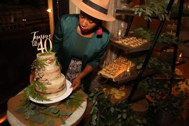 40 Birthday Cake - Sucre Brun