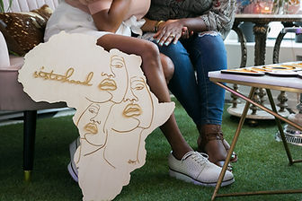 Africa Continent Custome Sign in wood and Acrylic - Laser Cut decor and photoboth props - D Style Cut