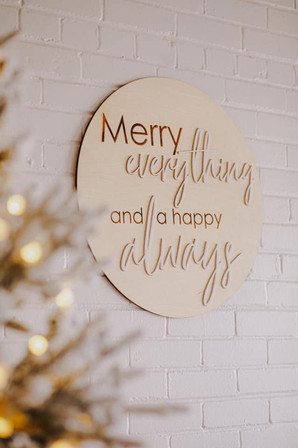 Merry Everything Sign For photo pros