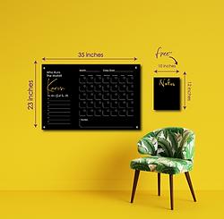 Black Acrylic Calendar Wall Sign with Mirror Acrylic - Who Run The World? You!