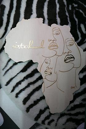 Sisterhood African Map - Wood - D Style Cut