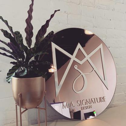 M.A. Signature
