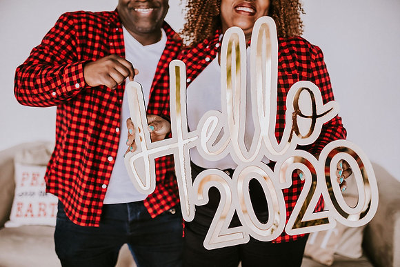 Hello 2020 - Acrylic sign- Wood Sign - Home decor- Logo sign