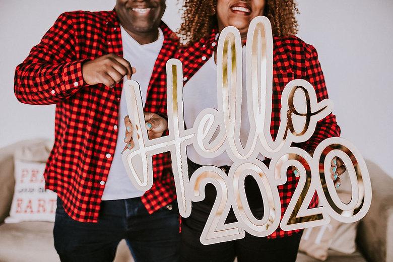 Hello 2020 -Custom sign