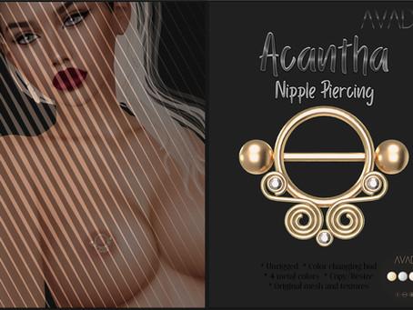 Acantha Nipple Piercing @ WCF