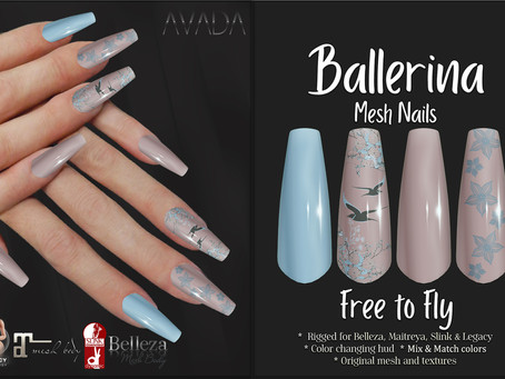 Free to Fly Ballerina Nails