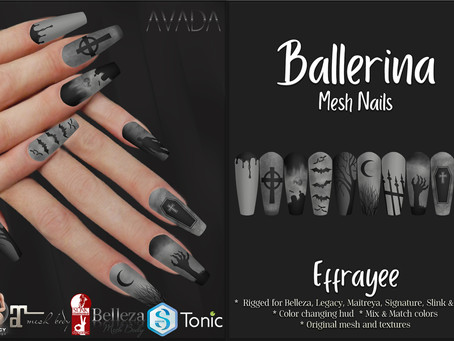 Ballerina Nails Effrayee