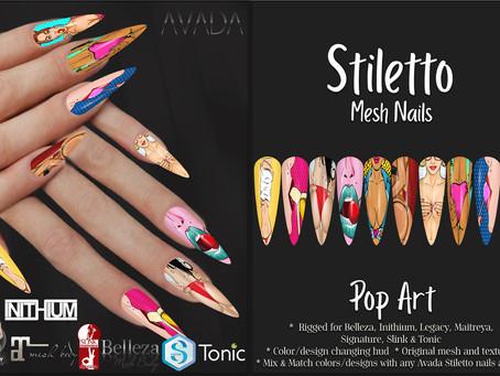 Stiletto Nails Pop Art