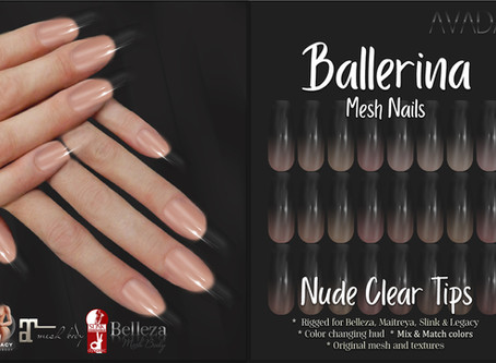 Ballerina Nails Nude Clear Tips