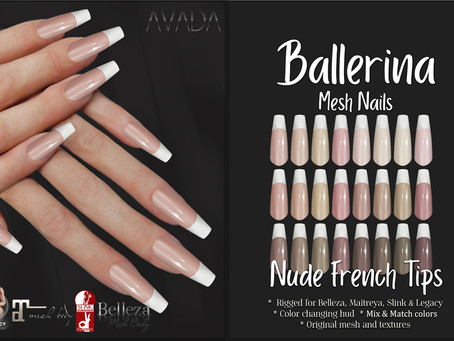 Nude French Tips Ballerina Nails