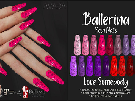 Love Somebody Ballerina Nails