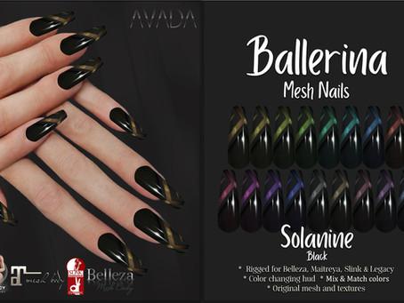 Solanine Ballerina Nails