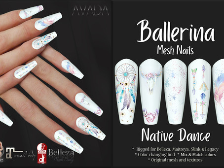 Native Dance Ballerina Nails