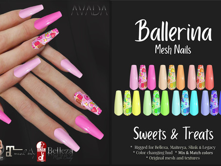 Sweets & Treats Ballerina Nails