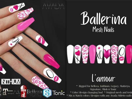 Ballerina Nails L'amour
