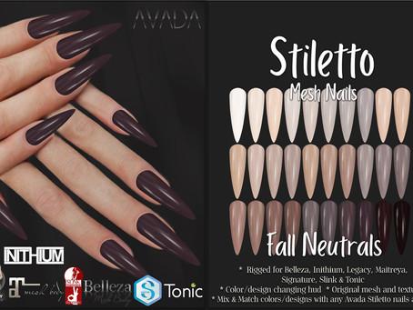 Stiletto Nails Fall Neutrals