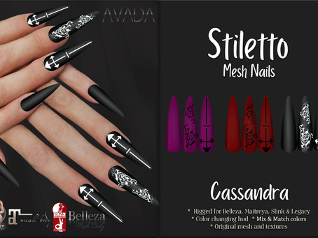 Cassandra Stiletto Nails