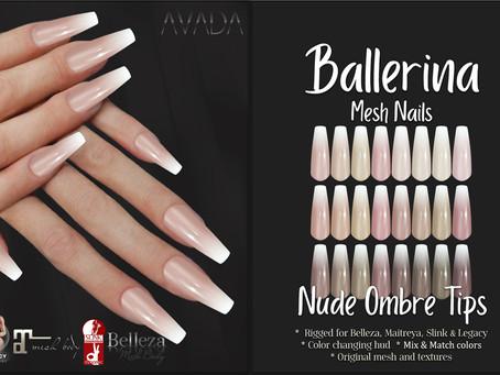 Ballerina Nails Nude Ombre Tips