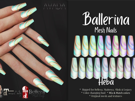 Heba Ballerina Nails