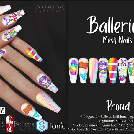 Ballerina Nails Proud
