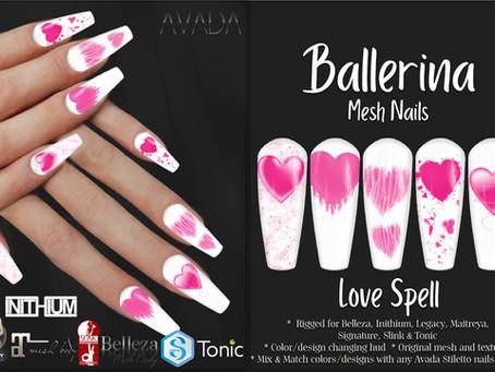Ballerina Nails Love Spell