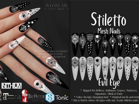 Stiletto Nails Evil Eye