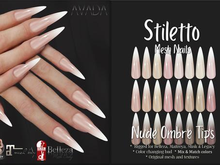 Stiletto Nails Nude Ombre Tips
