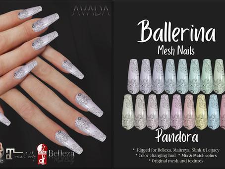 Pandora Ballerina Nails