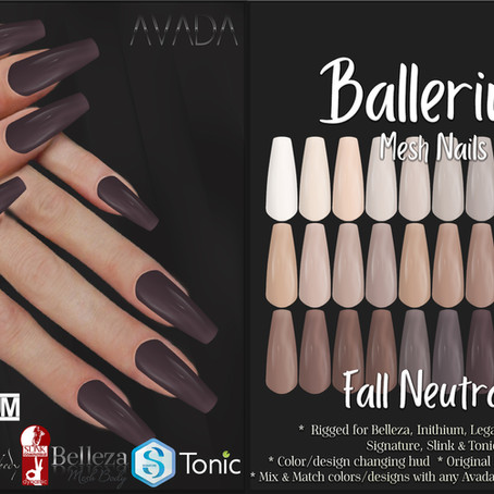 Ballerina Nails Fall Neutrals