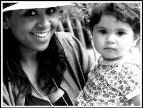 Portrait mère et fille Sonia & Selma