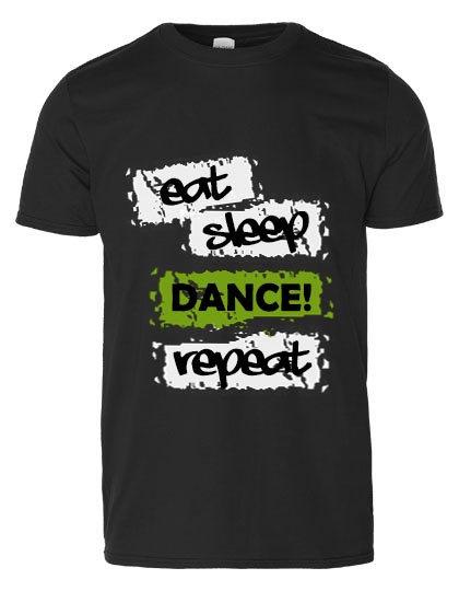 "Tanzkunst Shirt ""eat,sleep,dance,repeat"""