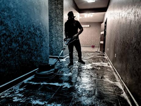 Tiles and Floor Scrubbing