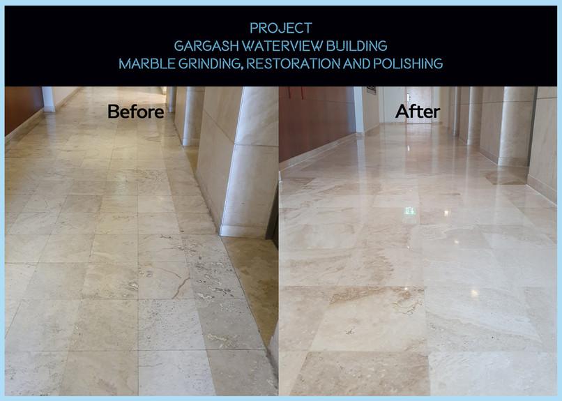Gargash Waterview Marble Work for floors
