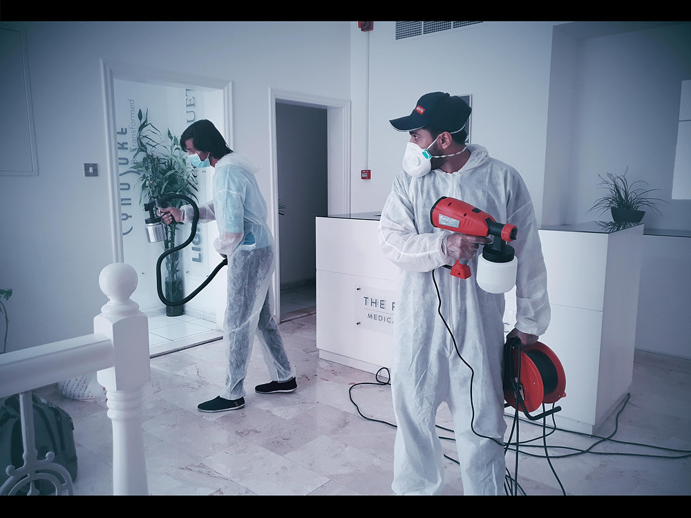 Office disinfection services in Dubai by Crystalblu