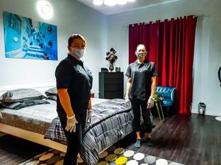 Crystalblu professional cleaning team