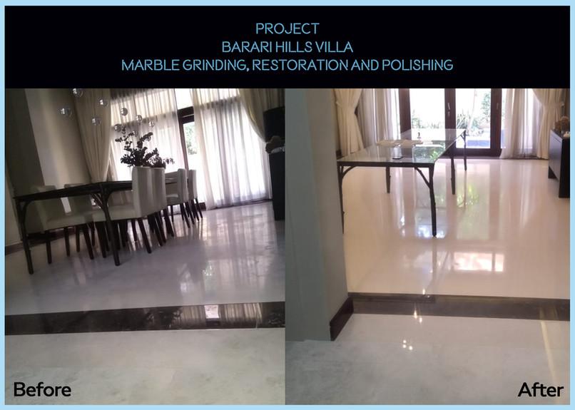 Marble polishing of Barari Villa