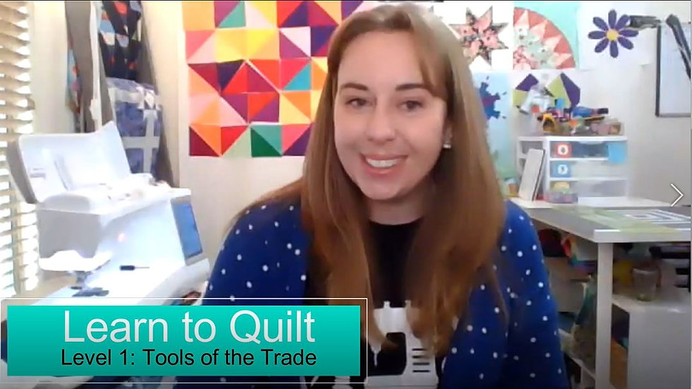 On Demand Class: Learn to Quilt Level 1