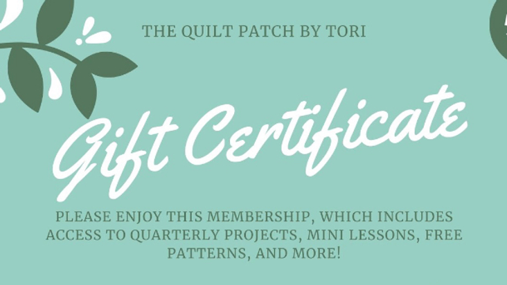 Patches Membership Gift Certificate PDF