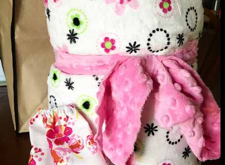 Quick and Easy Minky and Cuddle Blanket Tutorial