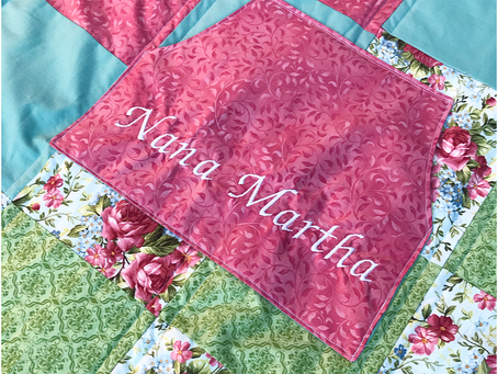 Lap Quilt with a Pocket!