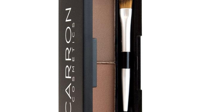 Carron Cosmetics -DUO EYEBROW COMPACT KIT DARK BROWN- DEEP BROWN